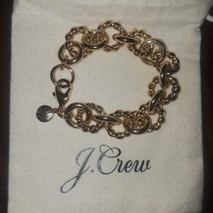 J.Crew gold chainlink braclet